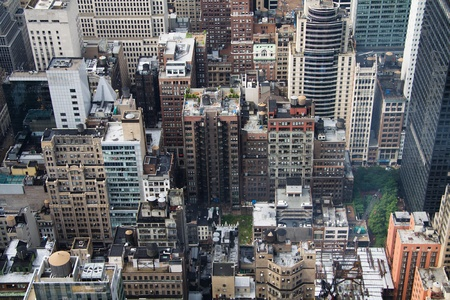 overlook: New York City aerial view Stock Photo