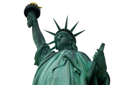 Statue of Liberty isolated Imagens