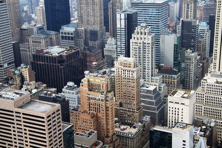 rooftop: New York City aerial view Stock Photo