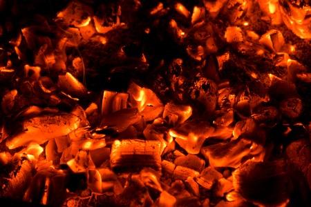 coals: Orange hot coals background