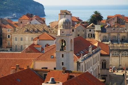 Detail of Dubrovnik Croatia at sunrise, travel background