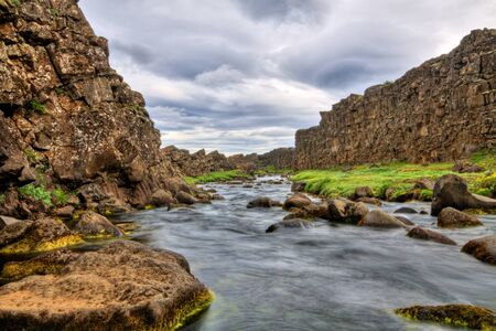 River in the canyon, Thingvellir NP, Iceland Stock Photo - 14992840