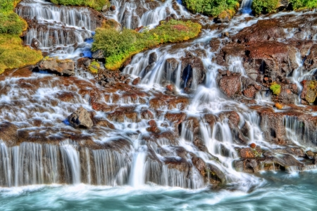 Hraunfossar waterfall, Iceland Stock Photo - 15175884
