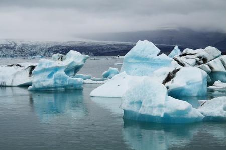 Icebergs on Jökulsárlón glacier lagoon, Iceland Stock Photo - 15355167