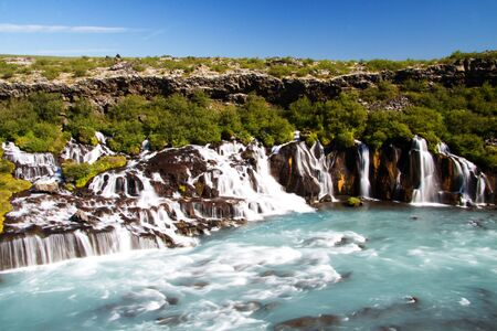 Hraunfossar waterfall, Iceland Stock Photo - 15355172