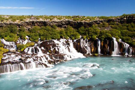 Hraunfossar waterfall, Iceland Stock Photo - 15355172
