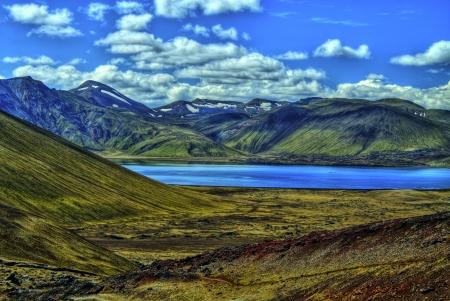 Landmannalaugar mountains in HDR, Iceland Imagens