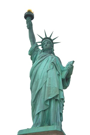 liberty: Statue of Liberty isolated Stock Photo