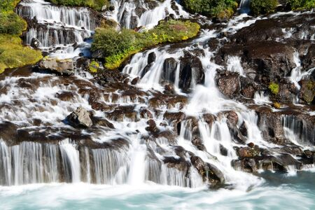 Hraunfossar waterfall, Iceland Stock Photo - 15778145