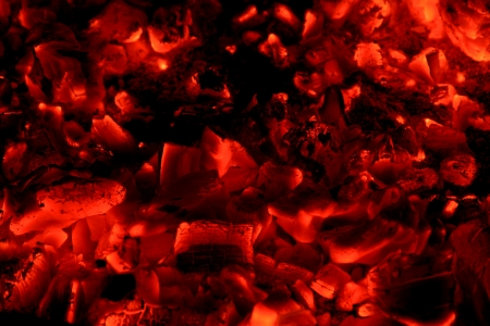 Red hot coals background photo
