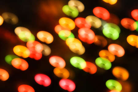 Blurred Christmas ligths background photo