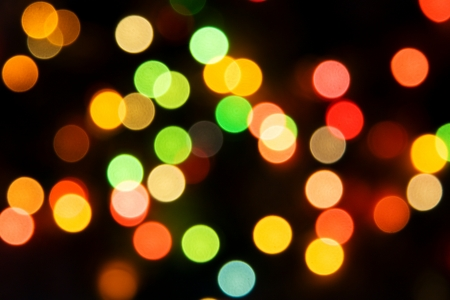 Blurred Christmas ligths background Stock Photo