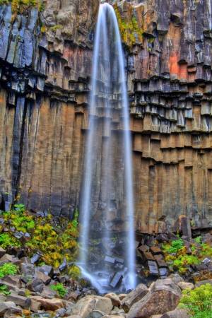 Svartifoss waterfall in HDR, Iceland photo