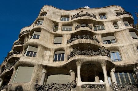 Casa Milo by Antoni Gaudi, Barcelona, Spain Editorial