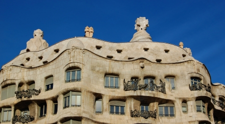 Casa Milo by Antoni Gaudi, Barcelona, Spain