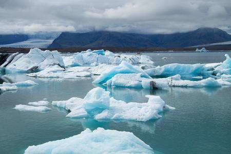 jokulsarlon: Icebergs on Jokulsarlon glacier lagoon, Iceland