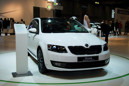 BRNO, CZECH REPUBLIC - APRIL 4: Skoda Octavia 3rd Generation on display at the 11th edition of International Autosalon Brno on April 4, 2013 in Brno, Czech Republic.