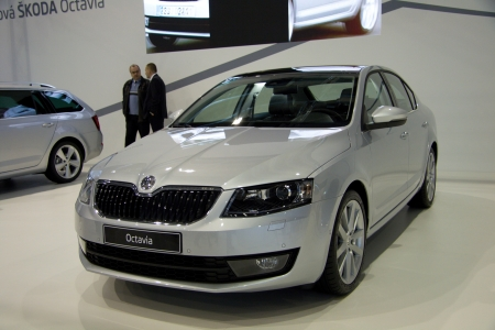 BRNO, CZECH REPUBLIC - APRIL 4: Skoda Octavia 3rd Generation on display at the 11th edition of International Autosalon Brno on April 4, 2013 in Brno, Czech Republic. Editorial