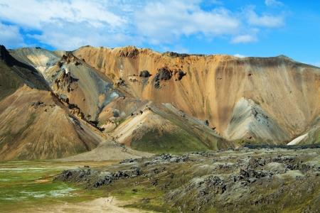 Landmannalaugar colored rainbow mountains, Iceland