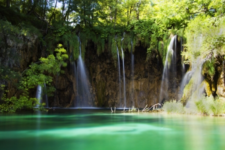 plitvice: Plitvice lakes waterfall, Croatia