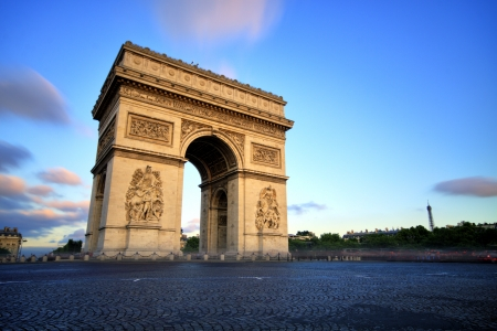 Arc de triomphe at Sunset, Paris Stock fotó