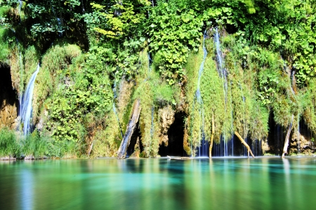 Plitvice lakes waterfall, Croatia Stock Photo - 23139249