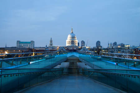 millennium bridge: St Pauls cathedral view from the Millennium Bridge, London