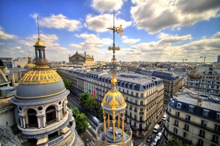 Rooftop Paris Stock Photo