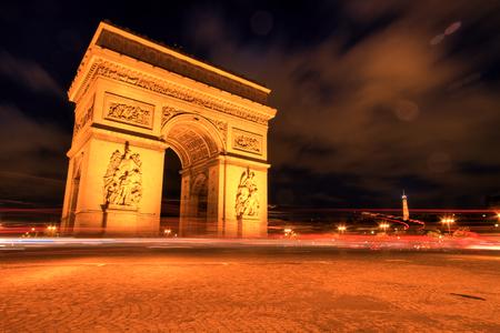 paris night: Arc de triomphe at Night, Paris