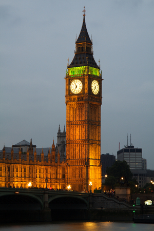 Westminster Abbey with Big Ben, London photo