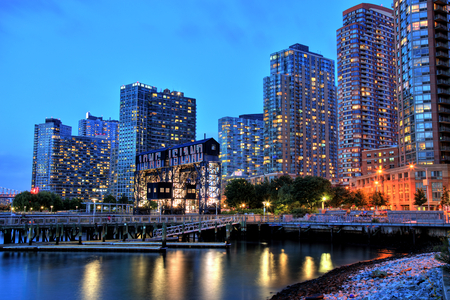 Skyline of Long Island, New York 스톡 콘텐츠
