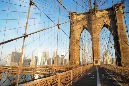 Brooklyn Bridge at sunrise, New York City photo