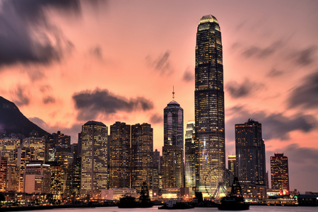 Hong Kong Skyline at Sunset photo