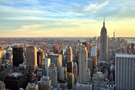 New York City Midtown con Empire State Building al tramonto Archivio Fotografico - 34275607