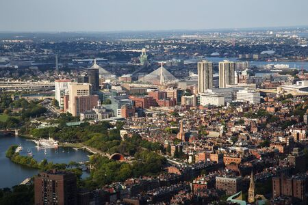 aerial: Boston Aerial View Stock Photo