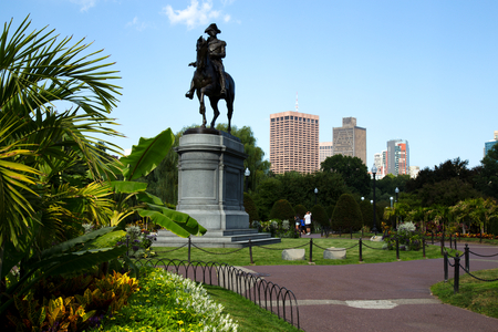 george washington statue: George Washington Statue in Boston Public Garden, Boston