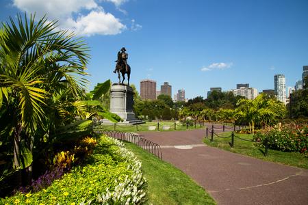 George Washington Standbeeld in Boston Public Garden, Boston