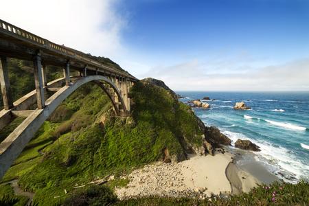bixby: Bixby Bridge at Pacific Coast as part of Road Number 1, California