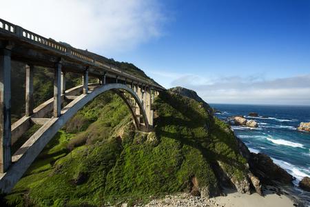 monterey: Bixby Bridge at Pacific Coast as part of Road Number 1, California
