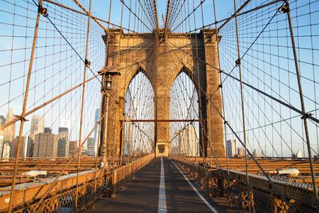ny: Brooklyn Bridge at sunrise, New York City