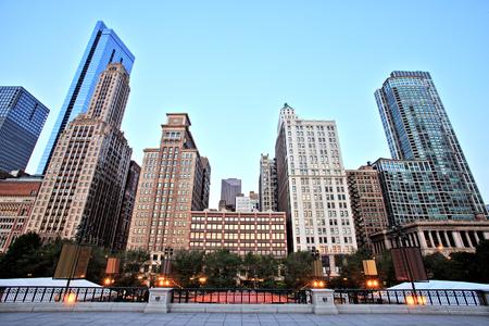 Chicago Skyline View from the Millennium Park 版權商用圖片