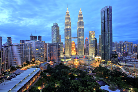 Kuala Lumpur Skyline with Petronas Towers Sajtókép