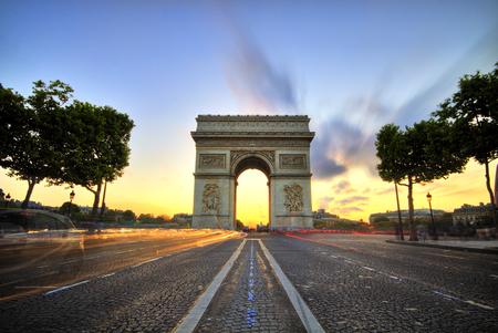 Arc de Triomphe al atardecer, París