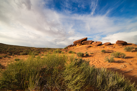 Red Rock Desert Landscape of Utah in the Iconic American Southwest Stock Photo