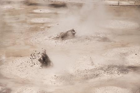 Mud Pool at Wai-O-Tapu Geothermal Area near Rotorua, New Zealand