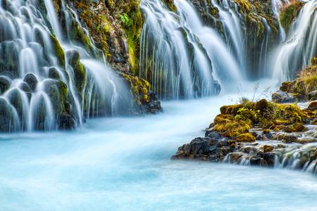 Wild Bruarfoss Waterfall in Iceland