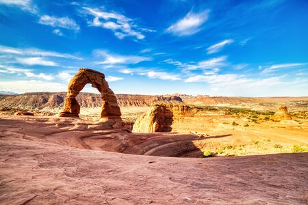 Delicate Arch in Arches National Park at Sunrise, Utah, USA