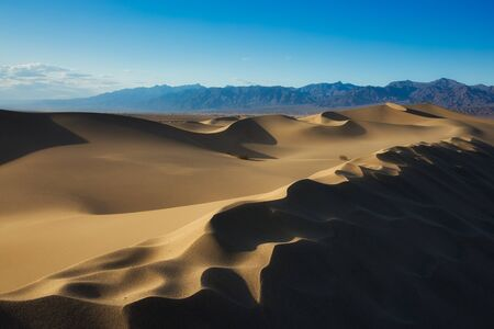 Sand Dunes at Sunset in Death Valley National Park, California, USA