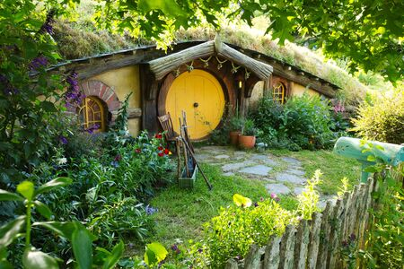 Hobbit House, Hobbiton Movie Set, New Zealand