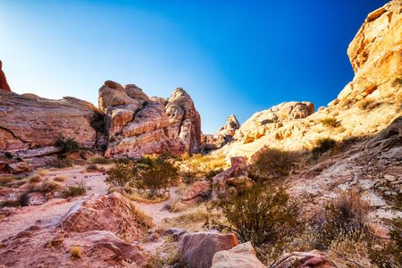 Landscape around White Domes Trail in Valley of Fire State Park near Las Vegas, Nevada, USA